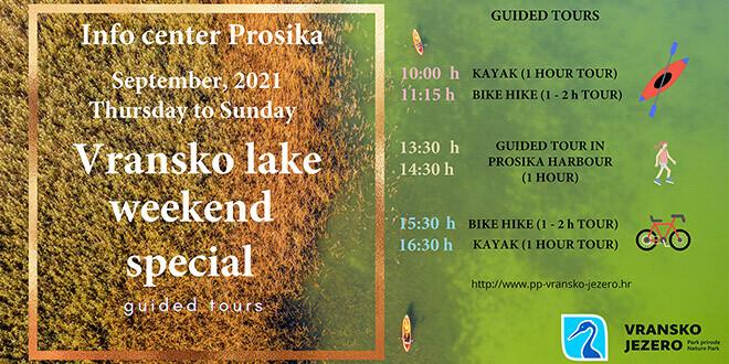 Do kraja rujna na Prosici izaberite ture s vodičem i upoznajte Park!