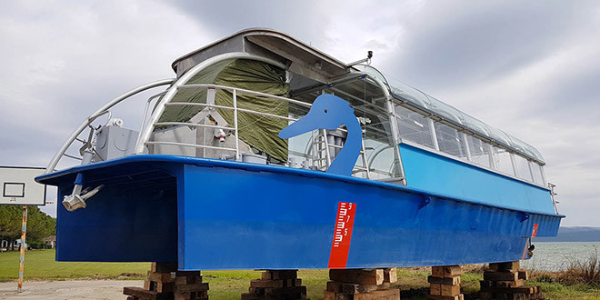 Električni brod stigao na Vransko jezero
