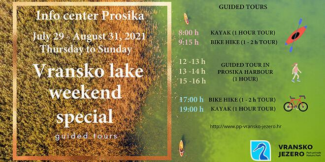 Izaberite aktivan vikend u lučici Prosika do kraja kolovoza!