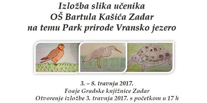Izložba slika učenika OŠ Bartula Kašića na temu Park prirode Vransko jezero