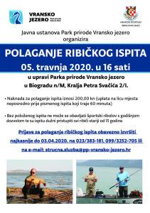 obavijest-za-ribice-polaganje-ribickog-ispita-05-travnja-2020-plakat